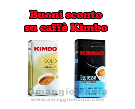 buoni sconto su caffè Kimbo