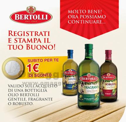 buono sconto olio Bertolli da 1 euro