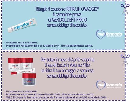 campioni omaggio Meridol e Eucerine Volume Filler da MiaFarmacia