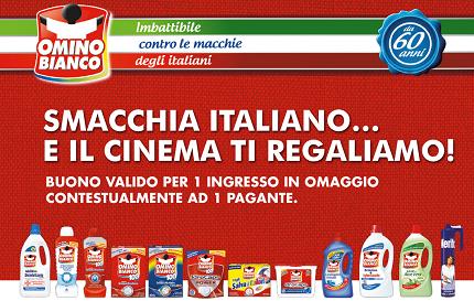 ingresso cinema omaggio con Omino Bianco