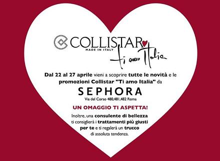 omaggio da Collistar Ti amo Italia (solo Roma)