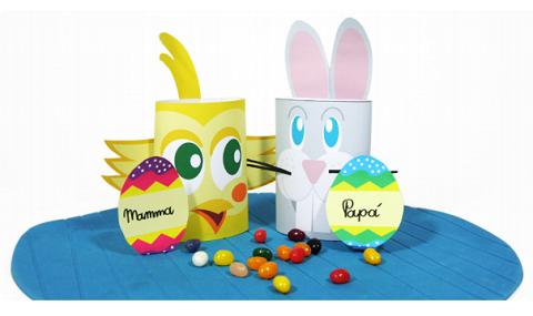 segnaposto di Pasqua per mamma e papà con Piccolini Time Barilla