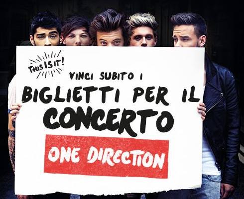 partecipa e prova a vincere i biglietti gratis per il concerto One Direction