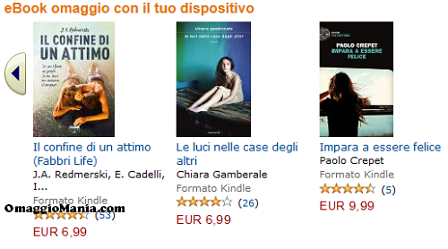 ebook omaggio con Kindle di Amazon