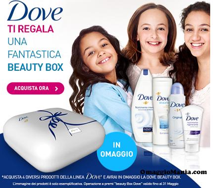 Dove Beauty box in omaggio