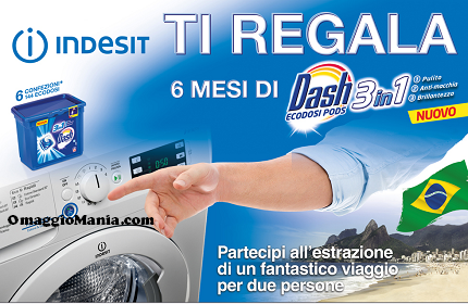 Indesit ti regala 6 mesi di Dash 3 in 1
