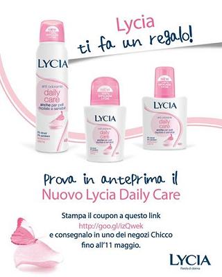 Lycia Daily Care in omaggio da Chicco
