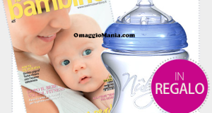 biberon omaggio con la rivista Io e il mio bambino