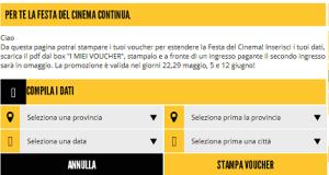 biglietti cinema 2x1 - torna la Festa del Cinema