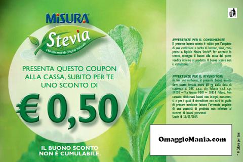 buono sconto Misura Stevia