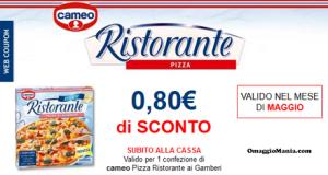 buono sconto Pizza Ristorante Cameo