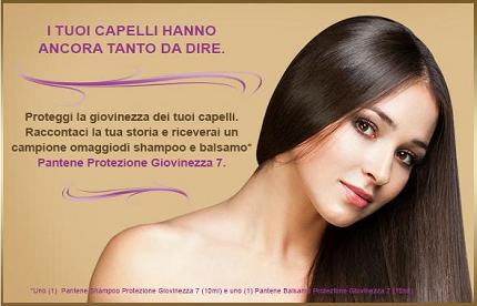 campioni omaggio shampoo e balsamo Pantene Protezione Giovinezza 7