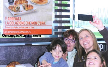 colazione gratis da McDonald's per la Festa della Mamma
