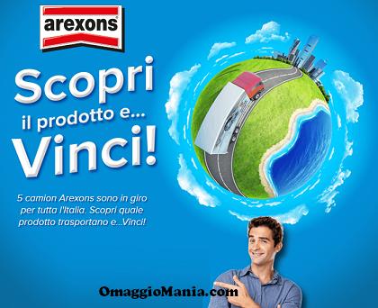 concorso a premi Arexons Scopri il prodotto e vinci