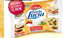 coupon da stampare mozzarella Fila&Gusta Santa Lucia Galbani