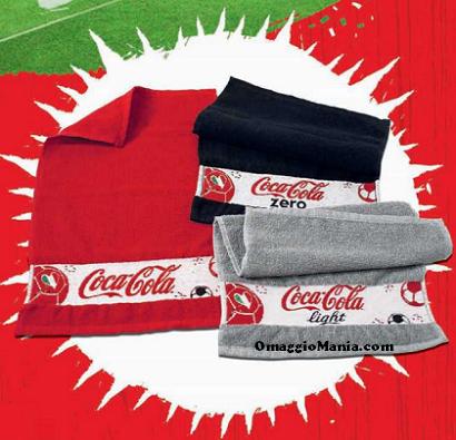 mini telo mare in omaggio da Coca Cola