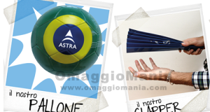 pallone o clapper omaggio da Astra