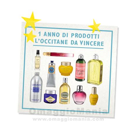 vinci 1 anno di prodotti L'Occitane en Provence