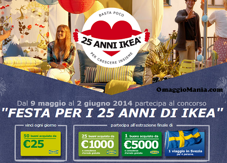 partecipa al concorso per i 25 anni Ikea