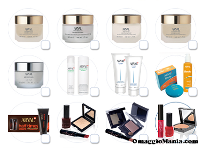vinci kit di bellezza con Arval Cosmetici