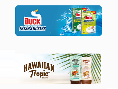 Duck Fresh Stickers o Hawaiian Tropic