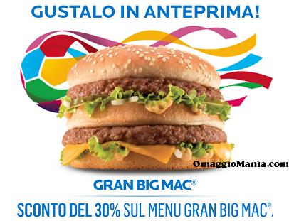 Gran Big Mac - buono sconto da stampare