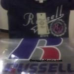 Maglietta omaggio Russell Athletic ricevuta da Maria Cristina