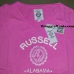 Maglietta omaggio Russell Athletic ricevuta da Rossana