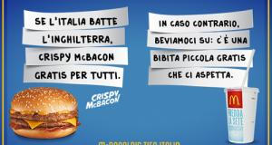 McDonald's tifa Italia per Italia Inghilterra