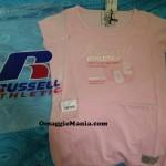 T-shirt omaggio Russell Athletic ricevuta da Chiara