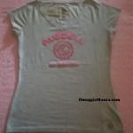 T-shirt omaggio Russell Athletic ricevuta da Loriana