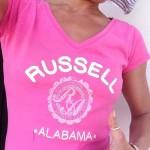 T-shirt omaggio Russell Athletic ricevuta da Marta