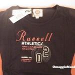 T-shirt omaggio Russell Athletic ricevuta da Silvia