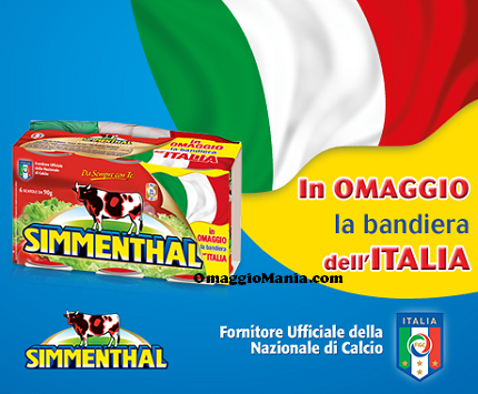 bandiera dell'Italia in omaggio da Simmenthal