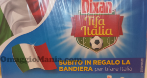 bandiera italiana omaggio con Dixan