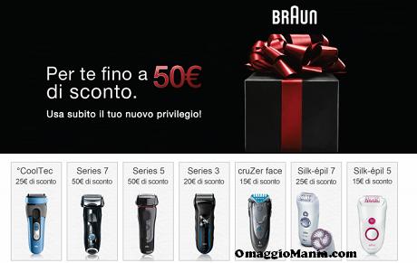 buono sconto Braun fino a 50 euro