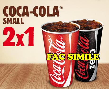 buoni sconto Coca Cola da Burger King