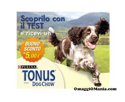 buono sconto Tonus Dog Chow