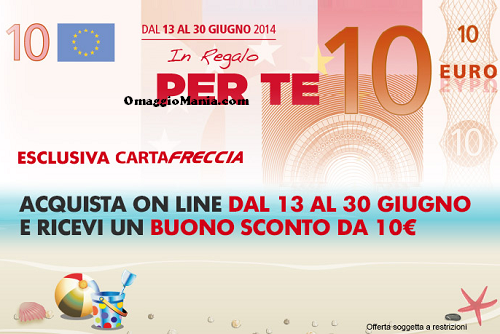 buono sconto da 10 euro con CartaFreccia