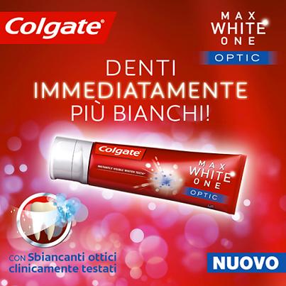 buono sconto dentifricio Colgate Max White One Optic