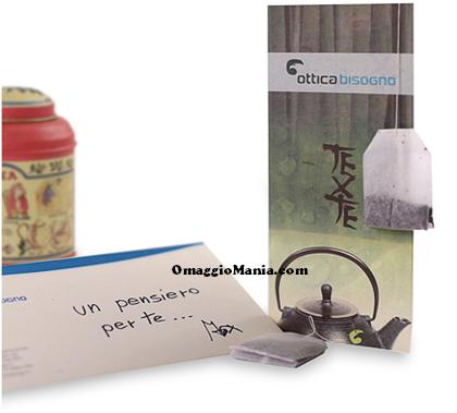 bustina di thè omaggio da Ottica Bisogno