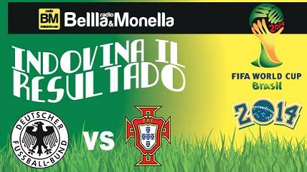contest Mondiali Radio Bellla&Monella Germania-Portogallo
