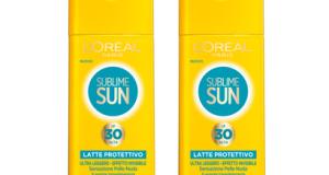 prova gratis la protezione solare Sublime Sun L'Oreal Paris