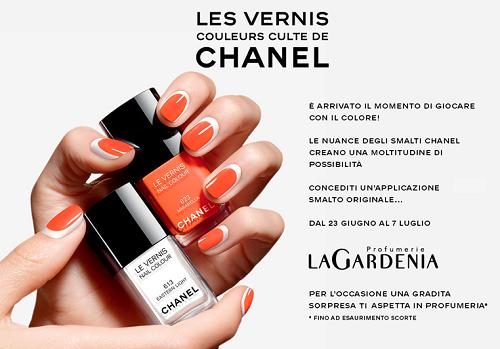 prova gratis smalti Chanel e sorpresa da Profumerie La Gardenia