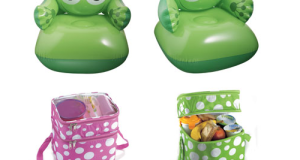 rana-poltrona gonfiabile o borsa termica omaggio con la rivista Insieme