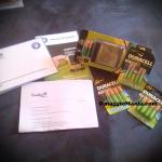 ricevuto kit di batterie Duracell da testare gratis