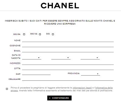 sorpresa da Chanel