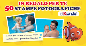 stampe fotografiche omaggio con Huggies Little Swimmers