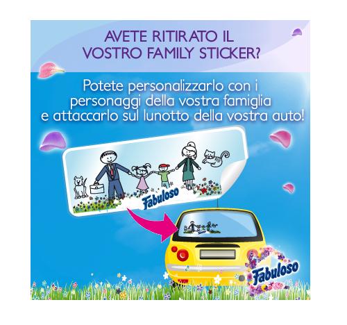 sticker famiglia omaggio da Fabuloso