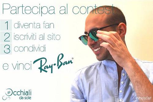 vinci RayBan con Gli Occhiali da Sole